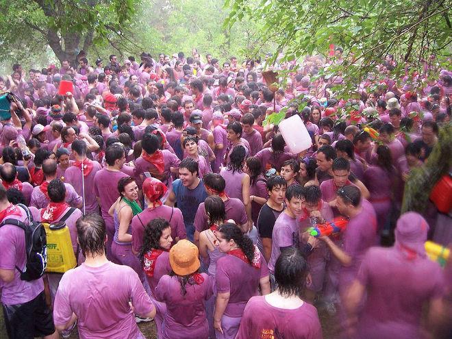 Fiesta pringosa del Vino de Haro